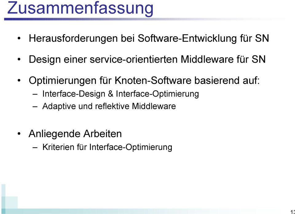 Knoten-Software basierend auf: Interface-Design & Interface-Optimierung