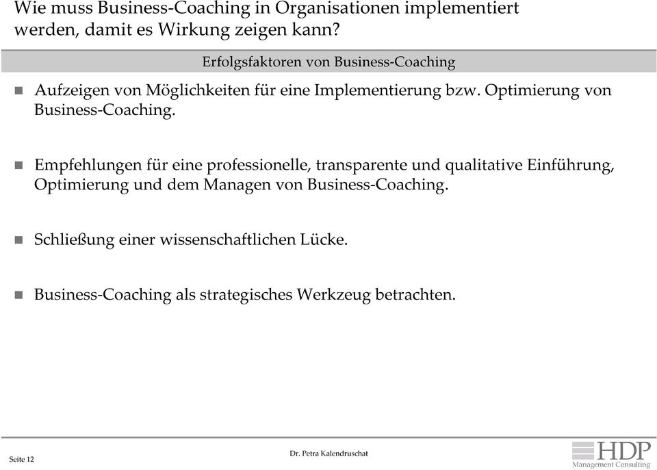 Optimierung von Business-Coaching.