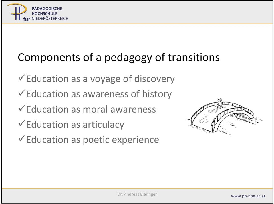 awareness of history Education as moral