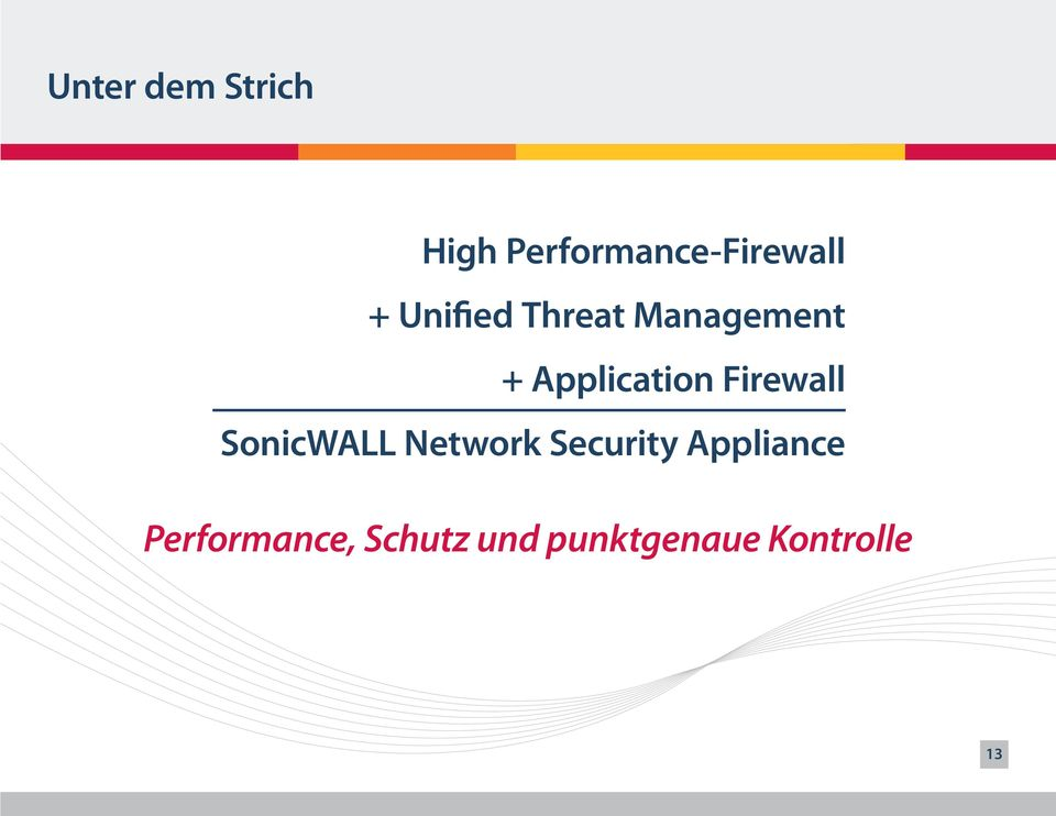 Firewall SonicWALL Network Security