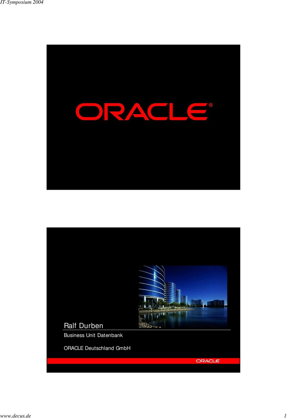 Datenbank ORACLE