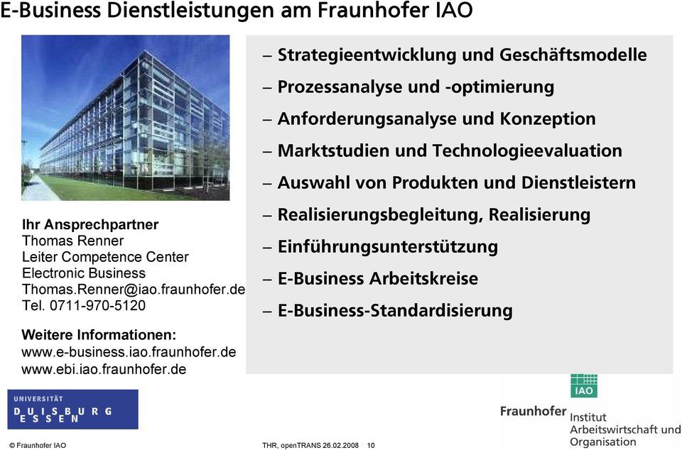 Electronic Business Thomas.Renner@iao.fraunhofer.