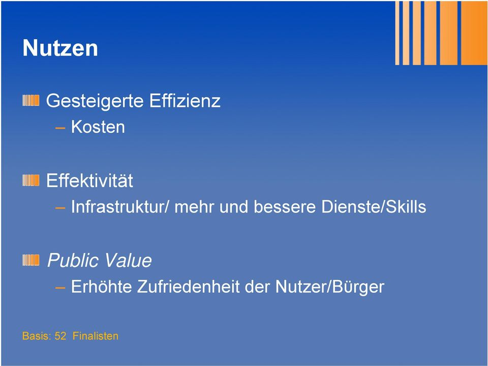 bessere Dienste/Skills Public Value
