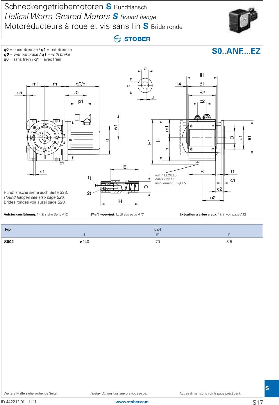 Roun flanges see also page 28. Bries rones voir aussi page 28.