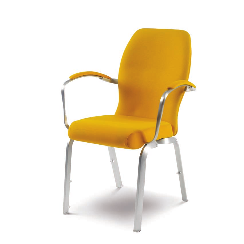 oder Restaurants The flexing and contoured upholstered back with lumbar support creates the most comfortable solution for conference and dining Elegante Armlehnen bilden ein funktionales und