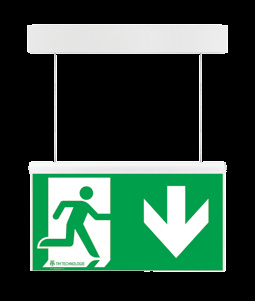 ONTEC AZ Markierung der Fluchtrichtung (Notleuchte) evacuation road direction (evacuation sign) Abmessungen [mm] Dimensions [mm] 51 46 Montage Mounting 194 180 180 Zubehör Accessories 327 180