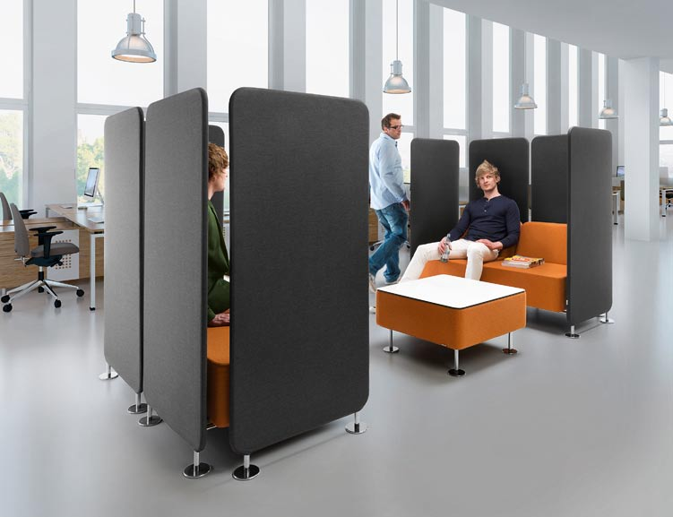 Universal system to use in spaces such as offices, halls, receptions or waiting