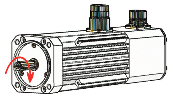 Dum 4 duf 4 synchron servomotoren synchronous for Drive end and non drive end of motor