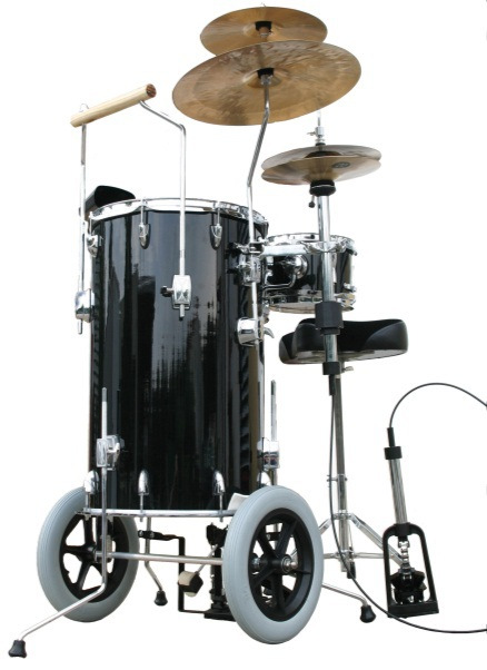": 22602 168,00 Mobiles Drumset Showtime Bass 15""x25"", Toms 10""x5,5"" und 8""x5,5"", Maple"