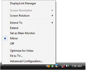 Spiegelung Mirror View (Image repeated over multiple TVs) USB to HDMI Monitor Extender (TU2-HDMI) Windows 7 1.