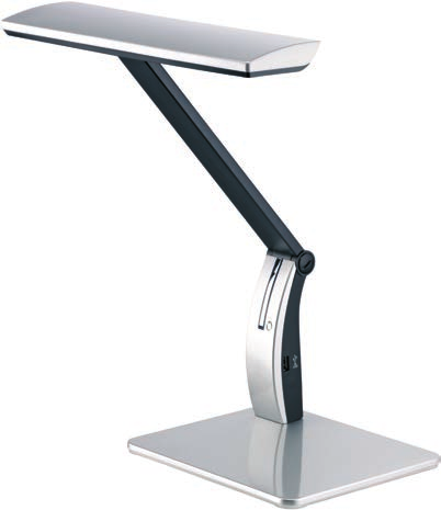 16 Art. Nr. 9150 Art. Nr. 9157 Tischleuchte. Arm und Kopf in Neigung verstellbar. 4-fach dimmbar mit Touchfuktion. USB-Schnittstelle am Leuchtenarm. Table lamp. Arm and shade with adjustable tilt.