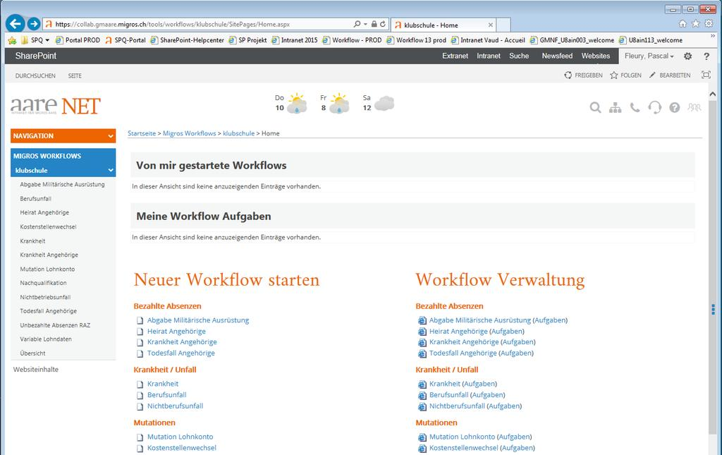 Migros HR Workflows