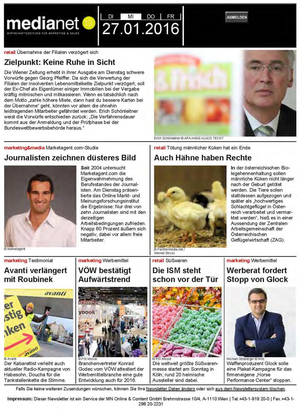 Medium: Medianet Newsletter Quelle: http://cms.medianet.