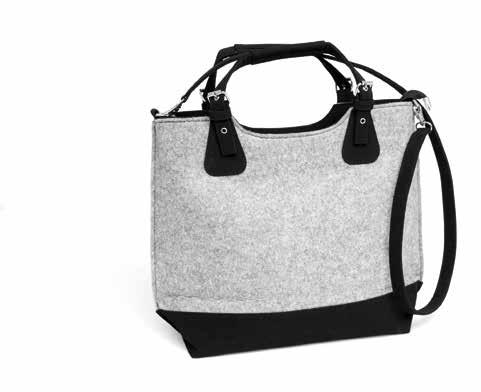 at/kollektionen/naturalbag Lady Handbag FILZ grau