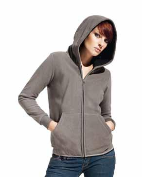 Fleece Jacket Promodoro /Light Grey Light Grey/ /Light Grey --Elastanbündchen am Arm --Innenseite in Kontrastfarbe --Antipilling-Ausrüstung --Einschubtaschen mit Ziernaht --Jacke mit