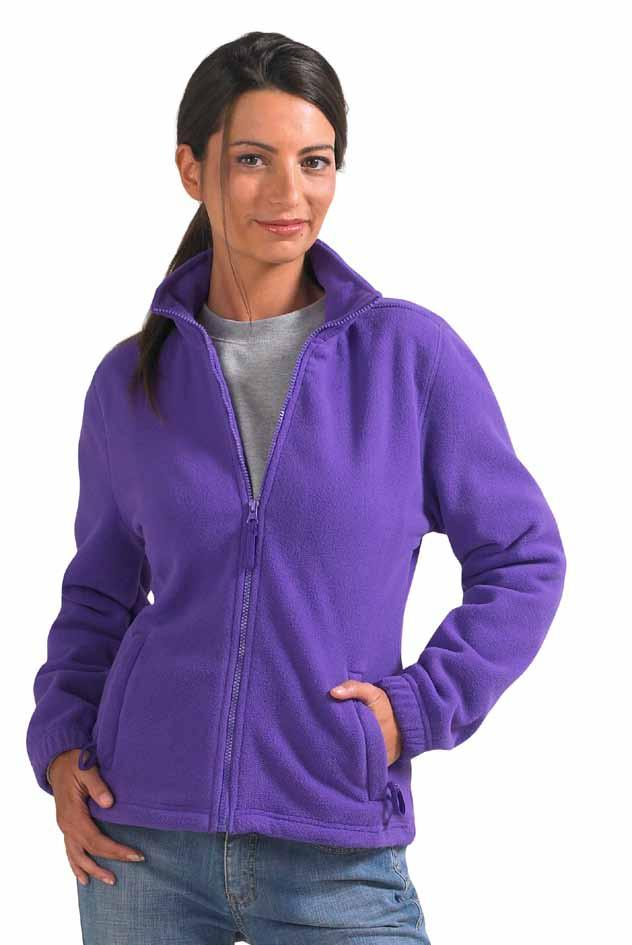 L745 54500 Womens Fleecejacket North Dark Chocolate Dark Purple Rope --Anti-pilling Fleece --Verstärkendes Nackenband --2 schräge Reißverschlusstaschen mit Klappen