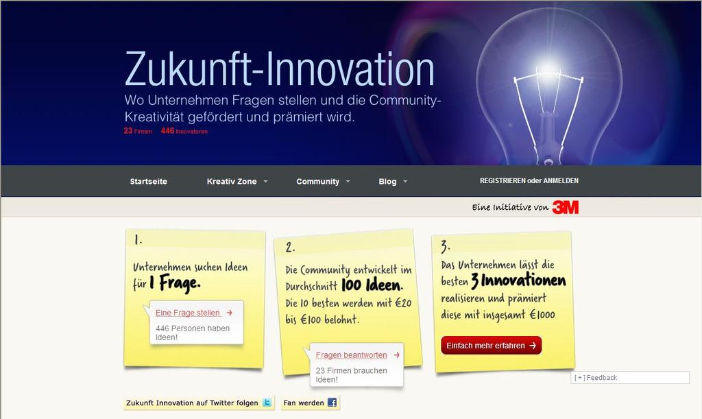 Innovation Platform Zukunft-Innovation Link: www.
