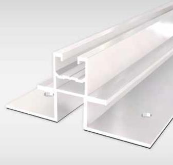 85 Bracket Profile For trapezoidal sheet metal roofs Material: aluminum Length: 300mm With rubber,