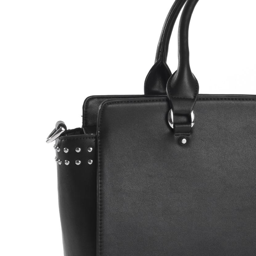 Maße: 34x25x12,5 cm Modern bag in leather look with integrated interior