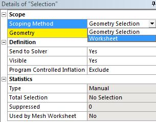 1. Right click on your model in the structure tree Insert Named Selection