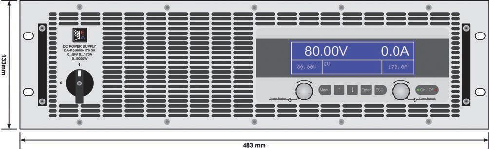 Programmierbare -ochleistungsnetzgeräte / Programmable high efficiency Power supplies -PS 9000 3U 3.