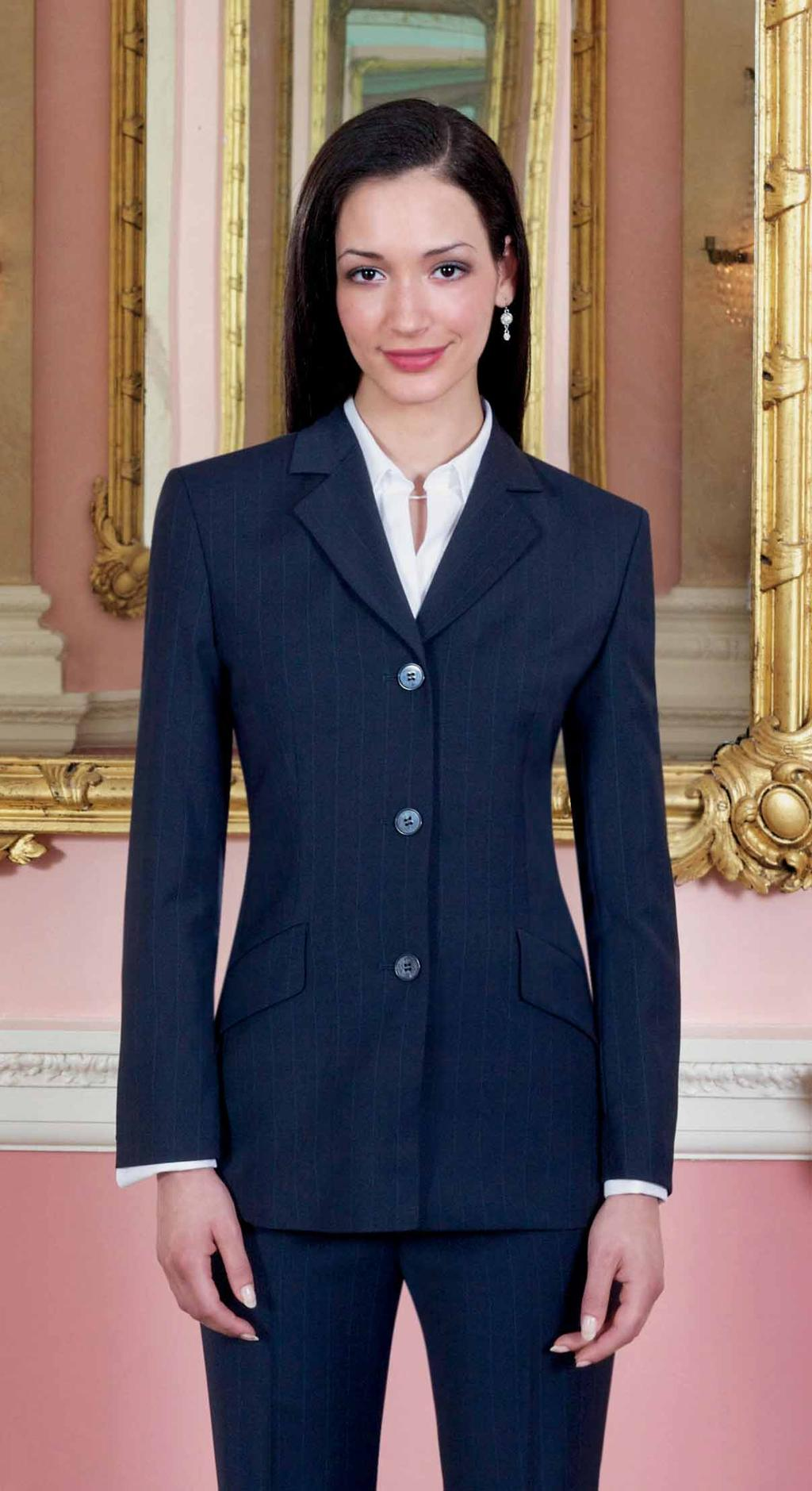 SOPHISTICATED Collection Blazer Catania (marine gestreift) Hose Varese (marine gestreift) paralleles