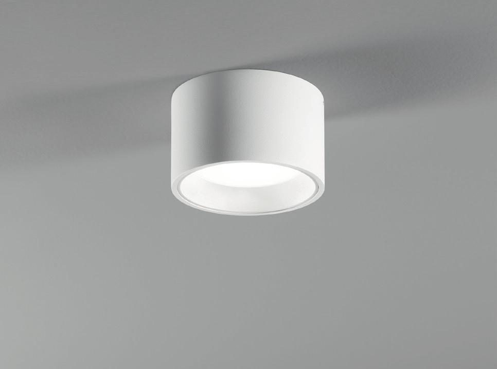 bereich verwendbar, IP54 Ø 123 75 -ceiling luminaire 14 W with builtin driver 230 V, dimmable with phase