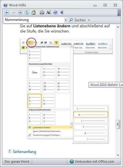 Quicktipp 3 Nummerierung in WORD PDF