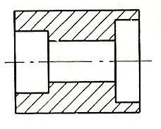 Sectional views full section half section If more than one component is shown in an intersection, they are graphically presented with different