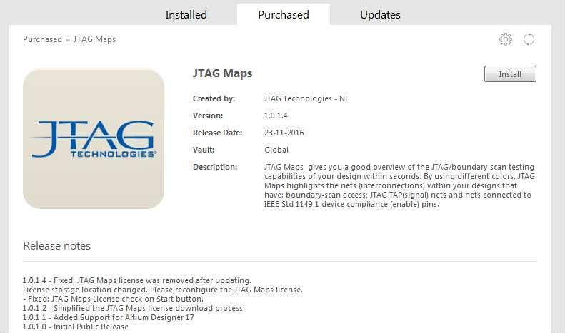 Click on the JTAG Maps Icon and follow the installation instructions.