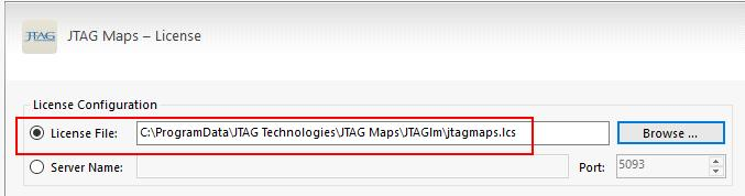 "Once the rest of the form is complete, click ""Download"" to generate your licence file (jtagmaps.lcs) and you will be prompted to save it to the PC. 4."