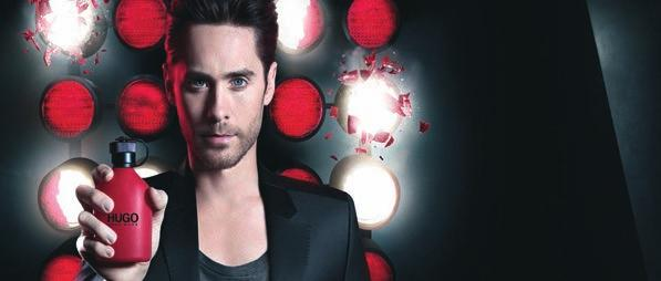 RED MEANS GO HUGO RED THE DARING NEW FRAGRANCE FOR MEN FEATURING JARED LETO HUGO