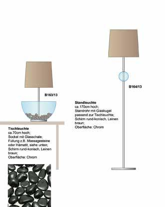 the glass bowl of the table lamp offers a great spot for alternating decorations