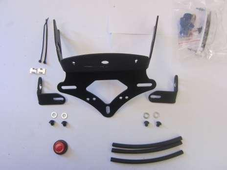 FITTING INSTRUCTIONS FOR LP0122BK LICENCE PLATE BRACKET KTM 690 DUKE 1111 2012- Page 1 THIS KIT