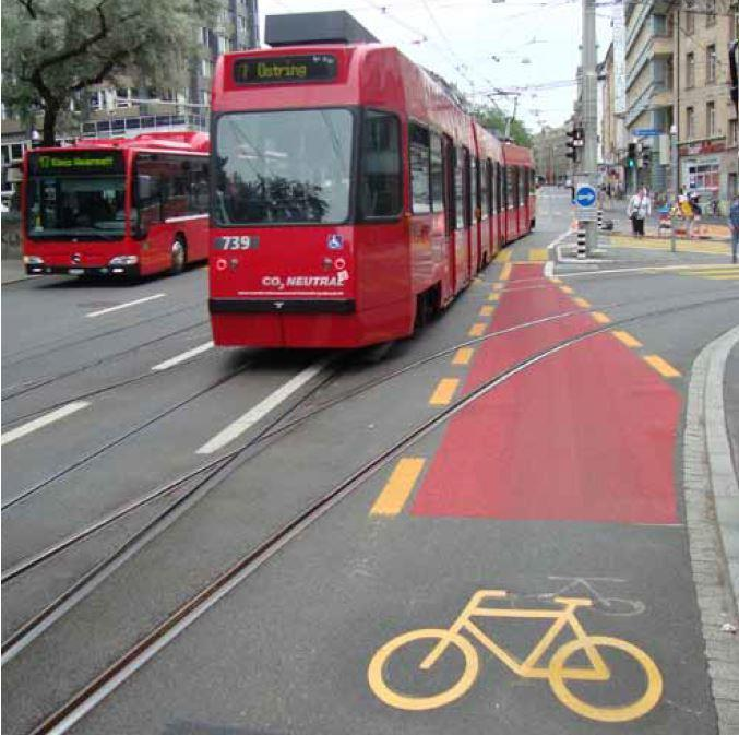 trams and cycling Bern, as many other cities, planned (still plans) to expanse the tram system