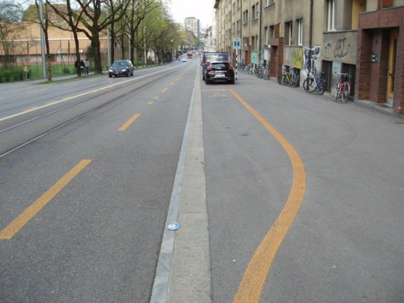 tram tracks and cycling Cyclists use