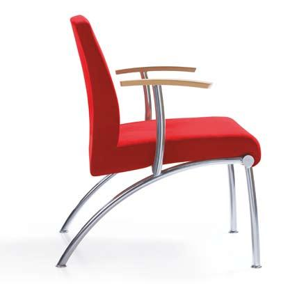 KOKO 1P CHROME KOKO 1H CHROME KOKO armchair available in three versions: without armrests, with full or metallic armrests with