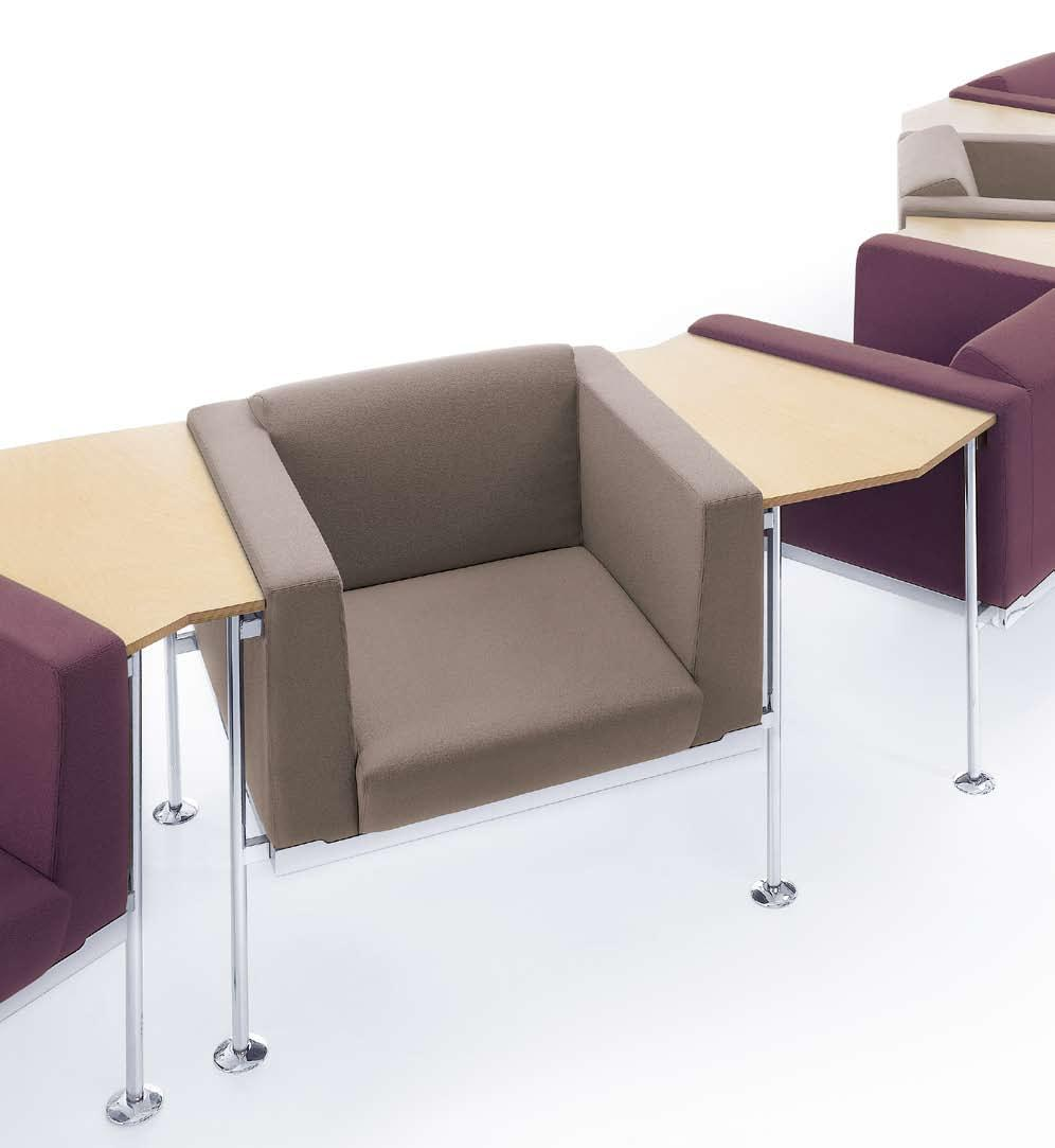 Wide range of combinations thanks to linking table tops Vielfälltige