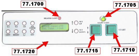 77.1725 Panel unit (new version) 1 77.1700 Heater light diode 1 77.