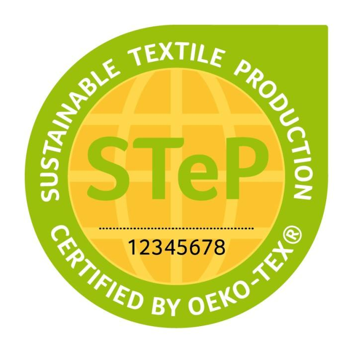 Sustainable Textile Production (STeP) by OEKO-TEX ist ein Zertifizierungssystem für Marken, Handelsunternehmen und Hersteller der textilen Kette, die ihre Leistungen in Bezug auf nachhaltige