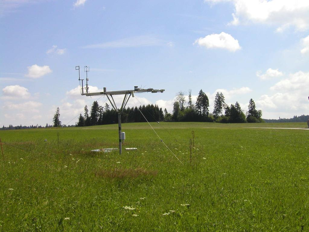 Energy balance and soil moisture measurements by FZK Soil Moisture Profiles: TDR (Time Domain Reflectrometry) Sisomops Geo-Radar (spatial) Instrumentation Schulze net radiometer Kipp