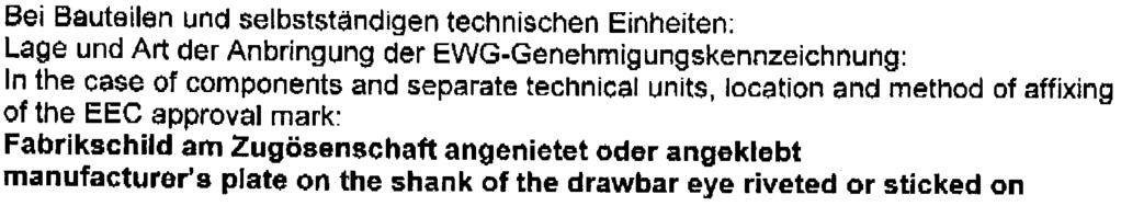 0.5. Name und Anschrift des Herstellers: Name and address cf manufacturer: Juco-Jellinghaus Gesellschaft rnit