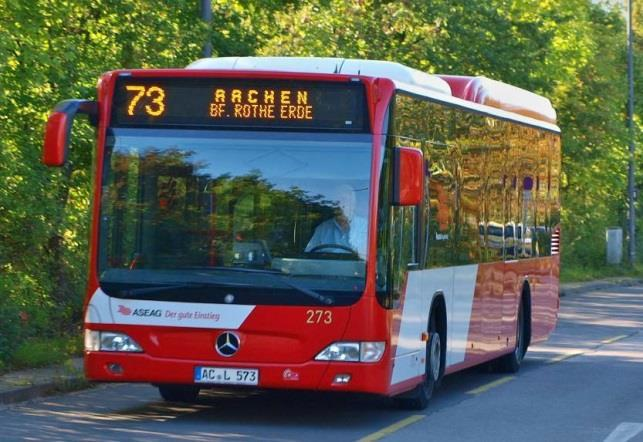Example 3 new Electric Buses on Line 73 in Aachen Stop 4 Stop1 Line