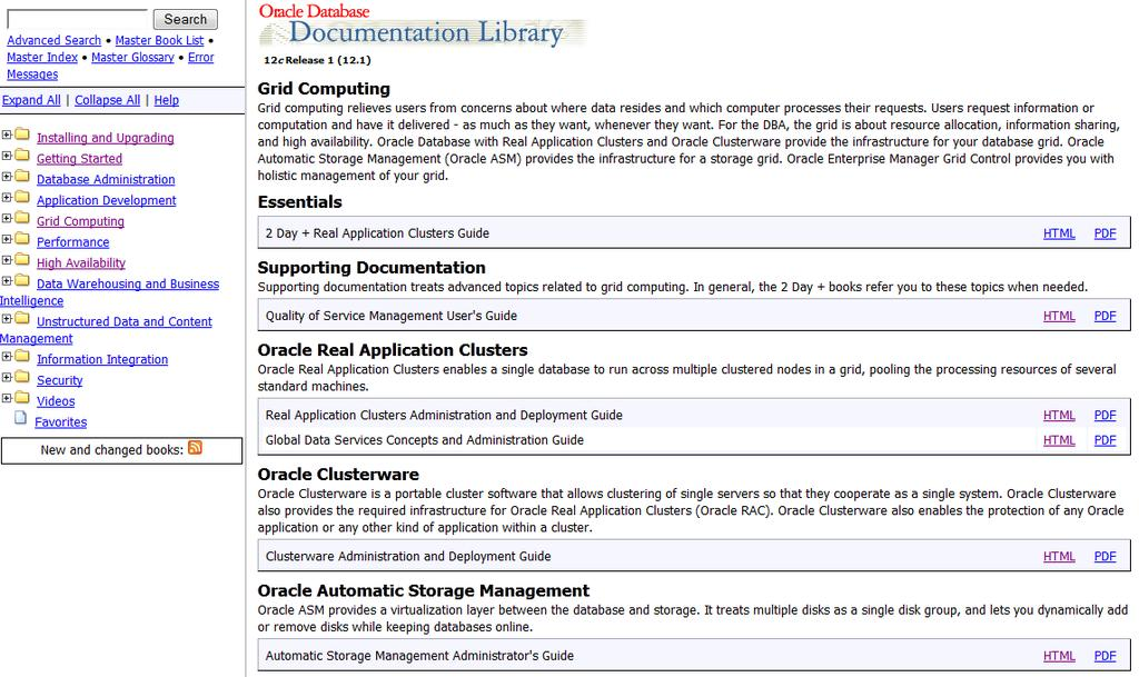 Oracle Clusterware Dokumentation Clusterware Automatic Storage Management RAC Quality of Service