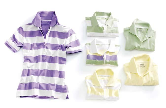 Streifen Polo Shirt Conny 59. 95 100% Pima Cotton Pima Cotton Uni Polo Shirt Conny 49.