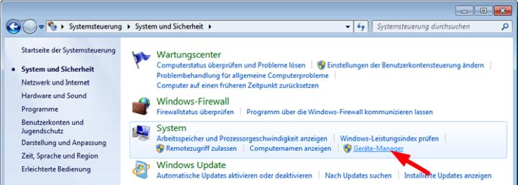 Variante A: Installation unter Windows 7 1.