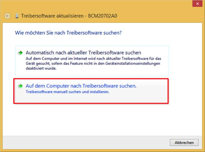 Variante B: Installation unter Windows 8.1 1.