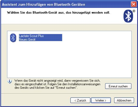 Windows XP SP2/SP3 und Windows Vista erkennen und installieren den USB-/Bluetooth -Dongle automatisch.