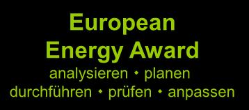 Anlagen Interne Organisation European Energy Award analysieren