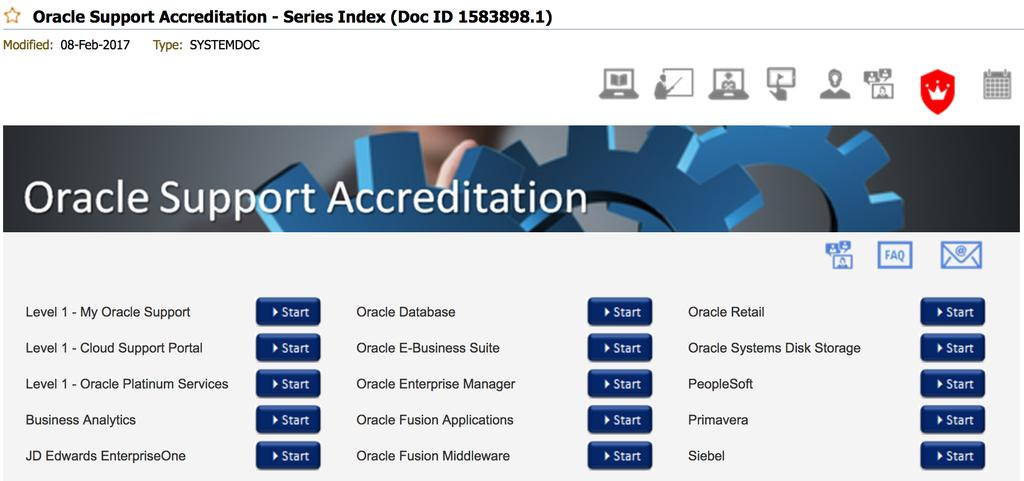 Oracle Service Request Accreditation => Doc